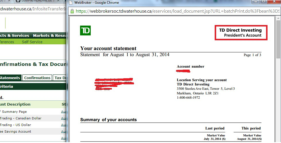 TD Waterhouse President's Account Complete Guide