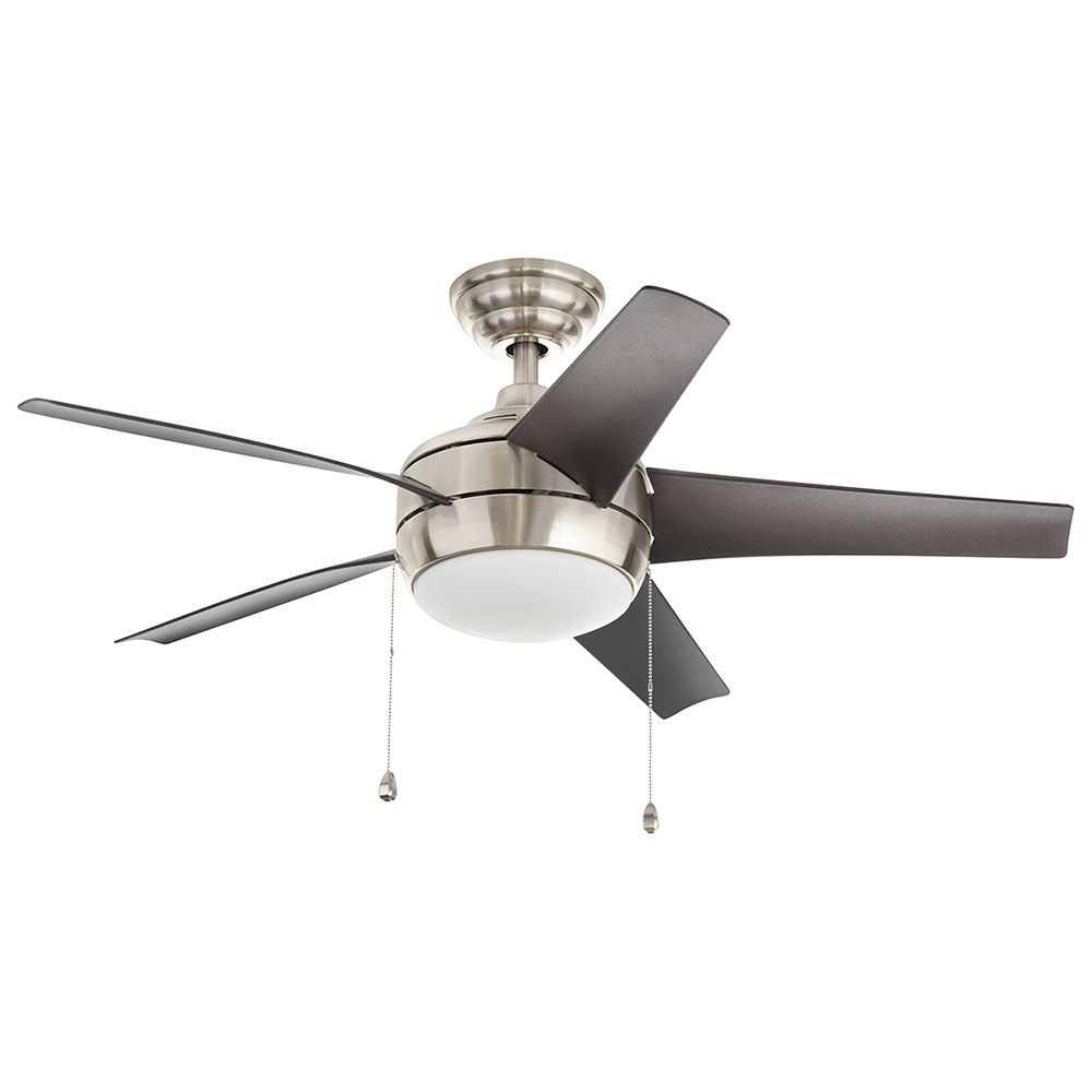 led collection ceiling fans fan nickel trudeau in decorators brushed home