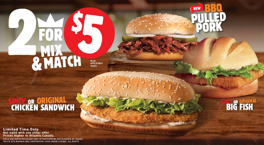 burger king 5 deals canada lamoureph blog
