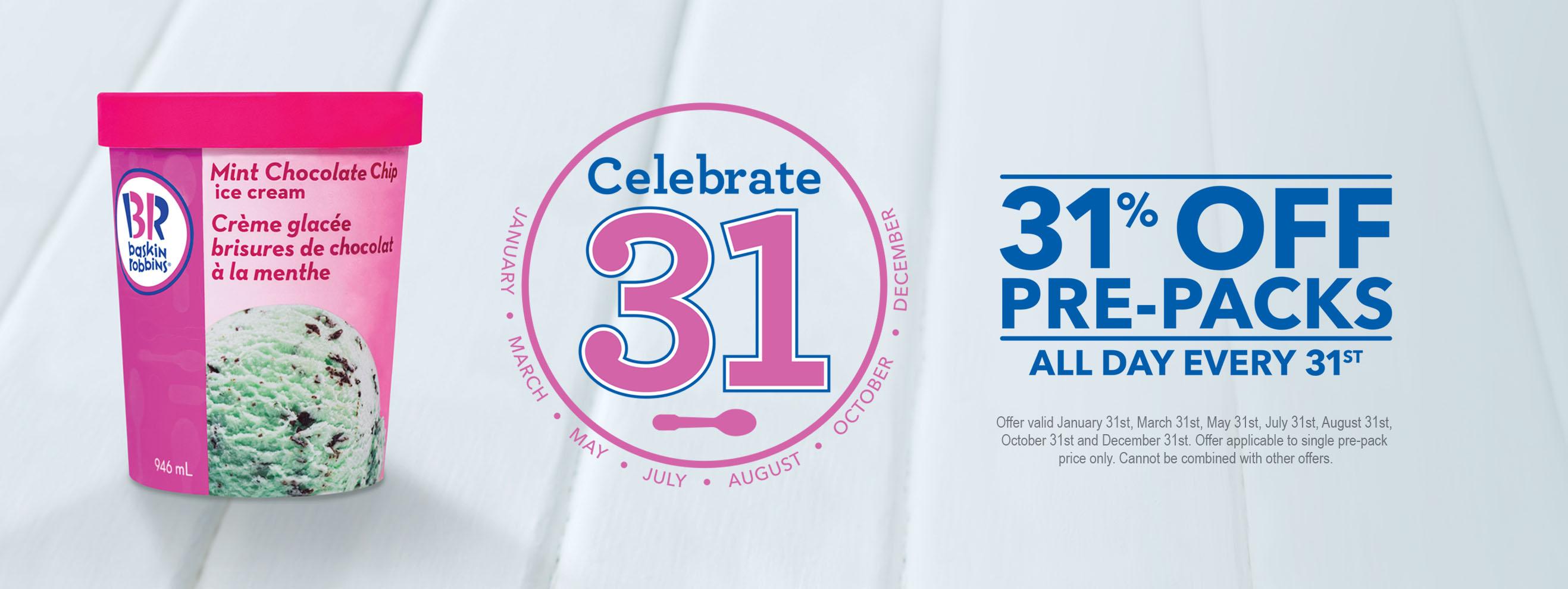 Baskin Robbins] 31% off pre-packed - RedFlagDeals com Forums
