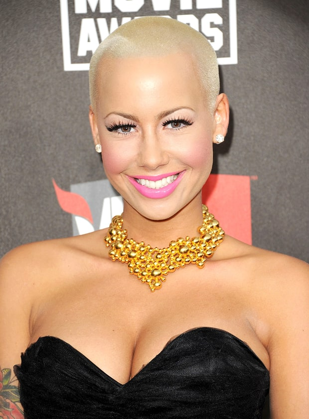 Amber rose shaved head