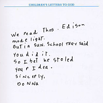 Ok children lets write a letter to god redflagdeals forums charliebrown wrote that edison guywhat a thief expocarfo Gallery