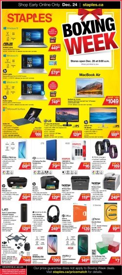Staples Boxing Day Flyer Redflagdeals Com Forums