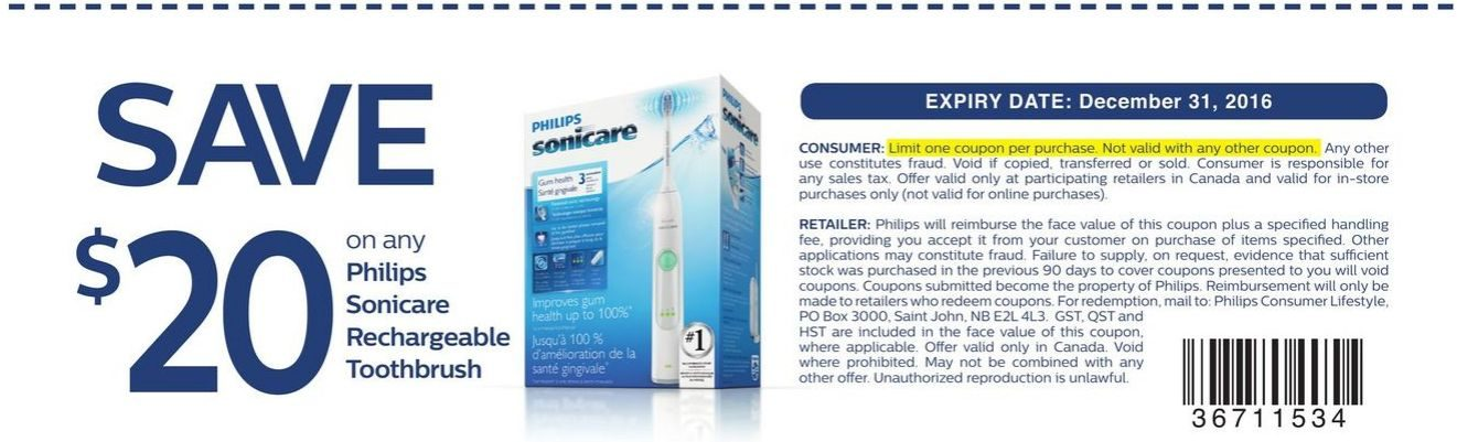 coupons for philips sonicare