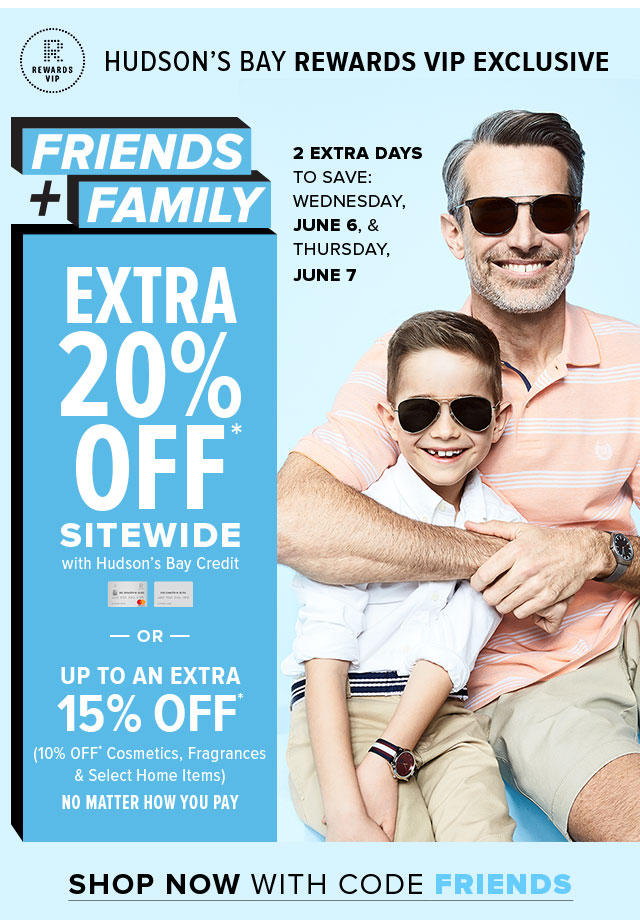 The Bay] Save up to 20% with Friends and Family discount event