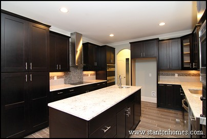 Cur Home Style Dark Floors Cabinets Light Counters Stainless Appliances