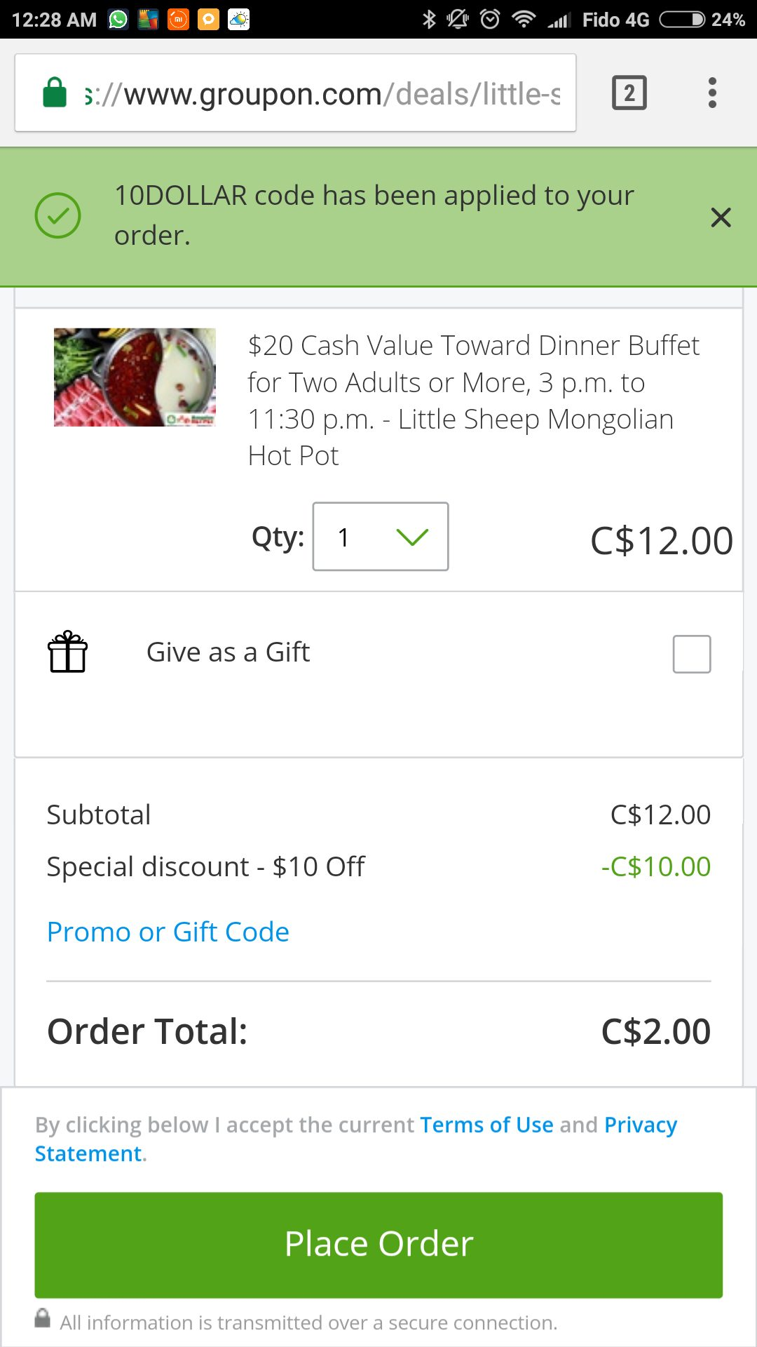 Little Sheep Mongolian Hot Pot $12 for $20 Voucher (>two