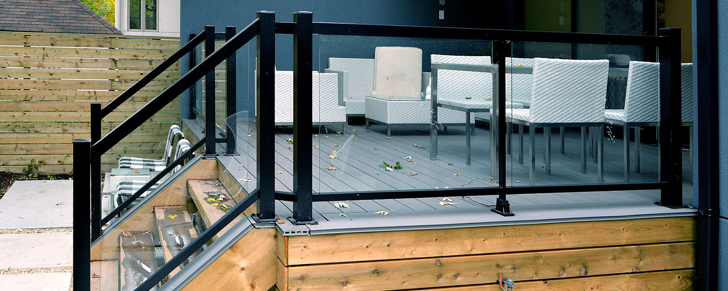 Anyone install glass railings for a deck redflagdeals for Garden decking glass panels