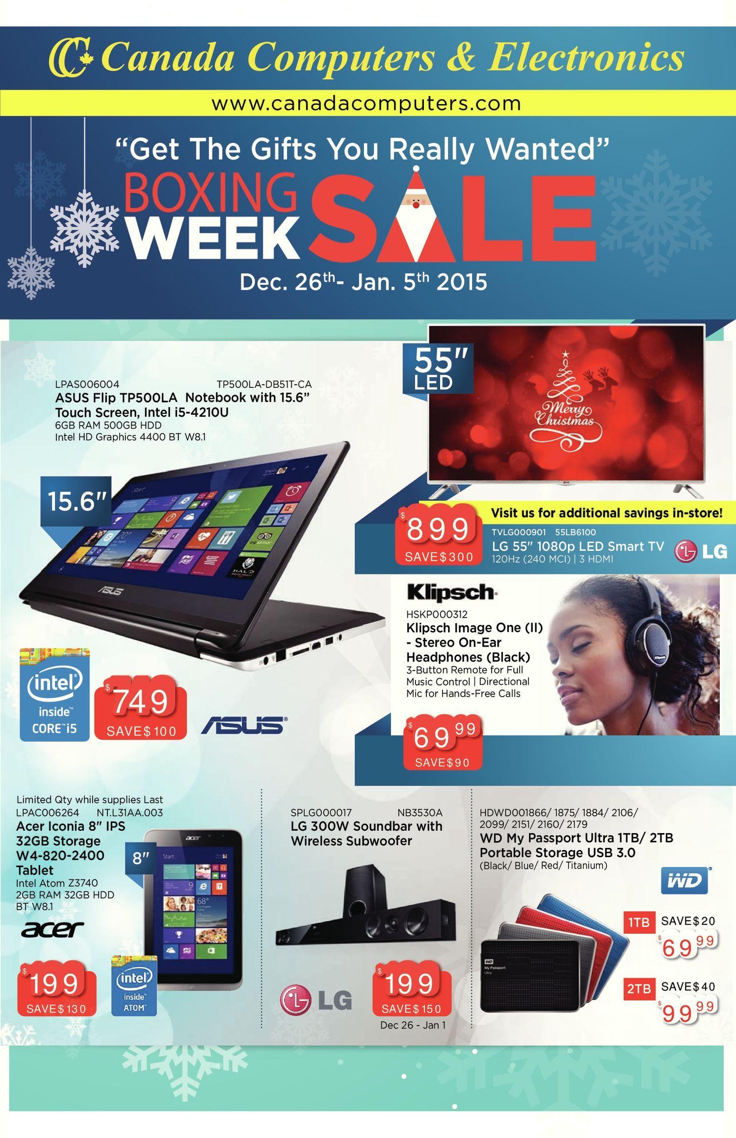 Canada Computers Weekly Flyer Boxing Week Sale En