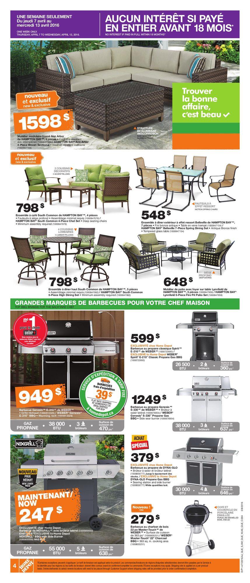 v nement vendredi fou du printemps home depot 7 avril 2016 pj shopwise. Black Bedroom Furniture Sets. Home Design Ideas