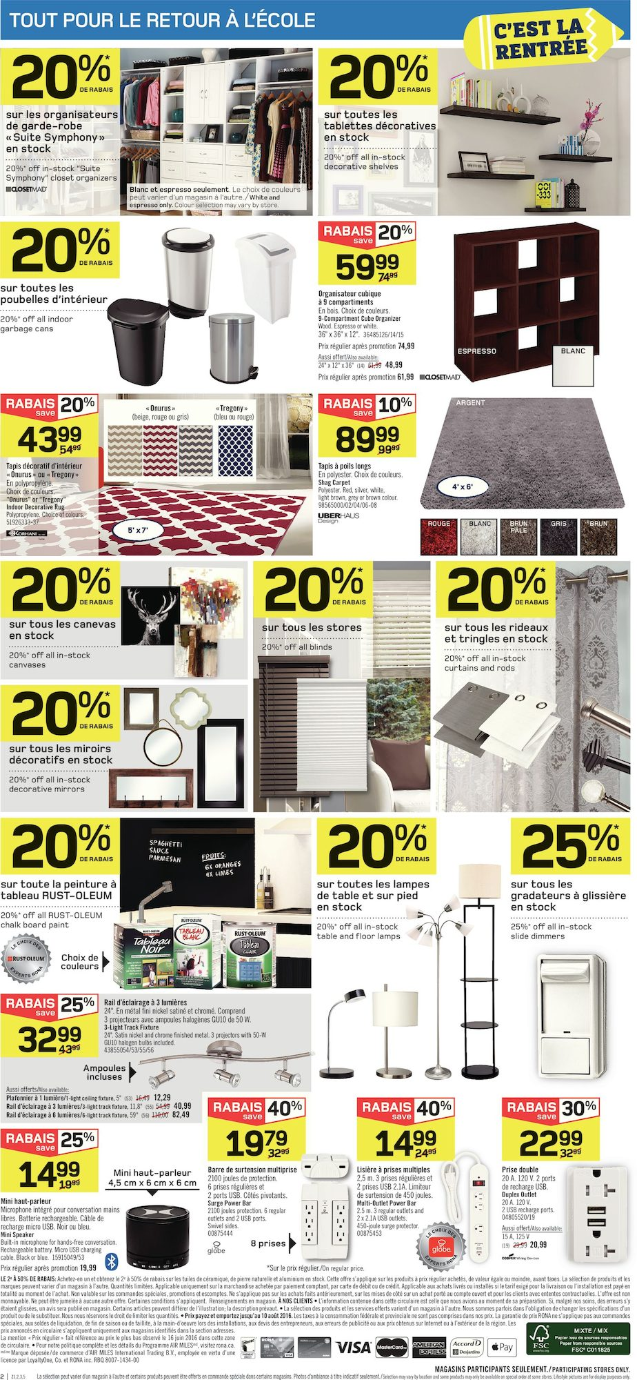 l 39 entrep t rona 4 ao t 2016 pj shopwise. Black Bedroom Furniture Sets. Home Design Ideas