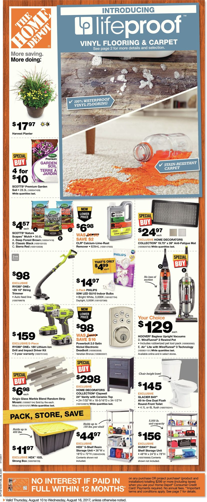 Weekly - Home Depot August 10 2017 | YP Shopwise