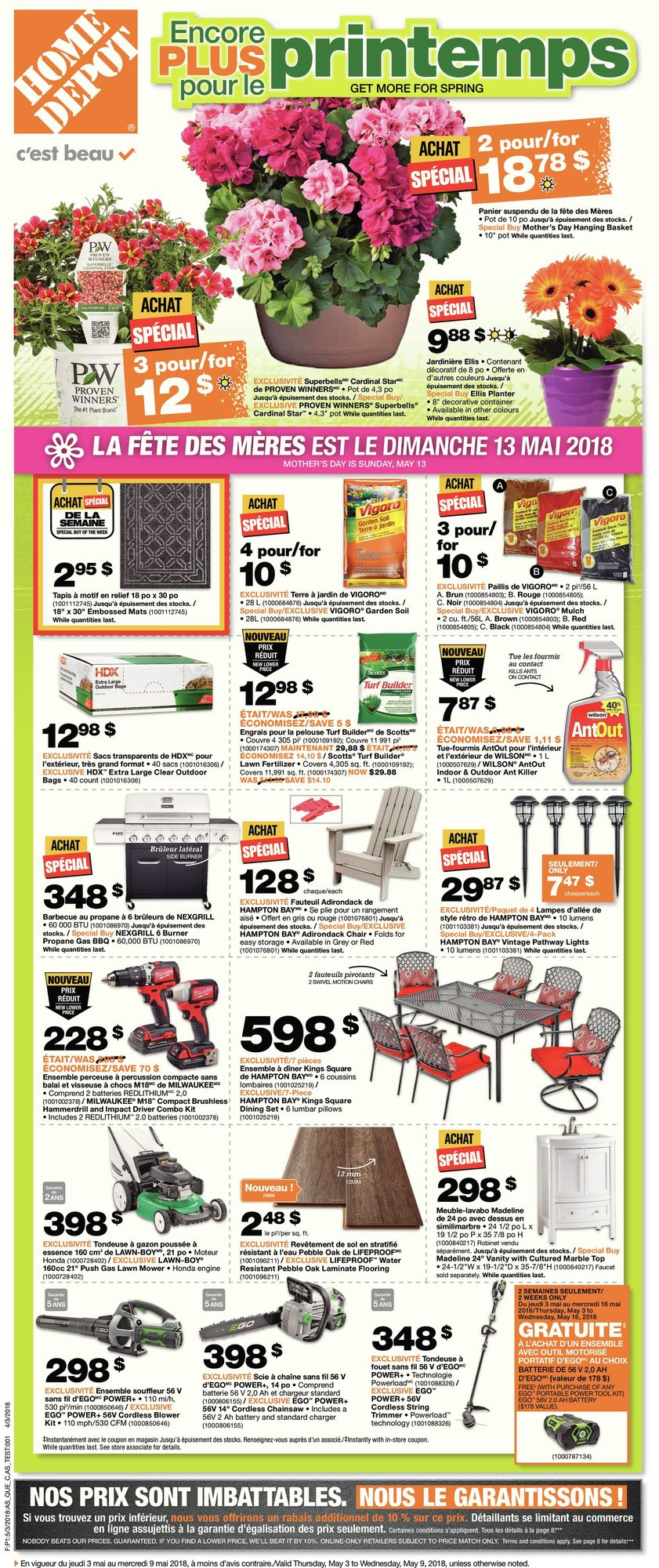 Weekly - Get More For Spring - Home Depot May 3 2018 | YP Shopwise