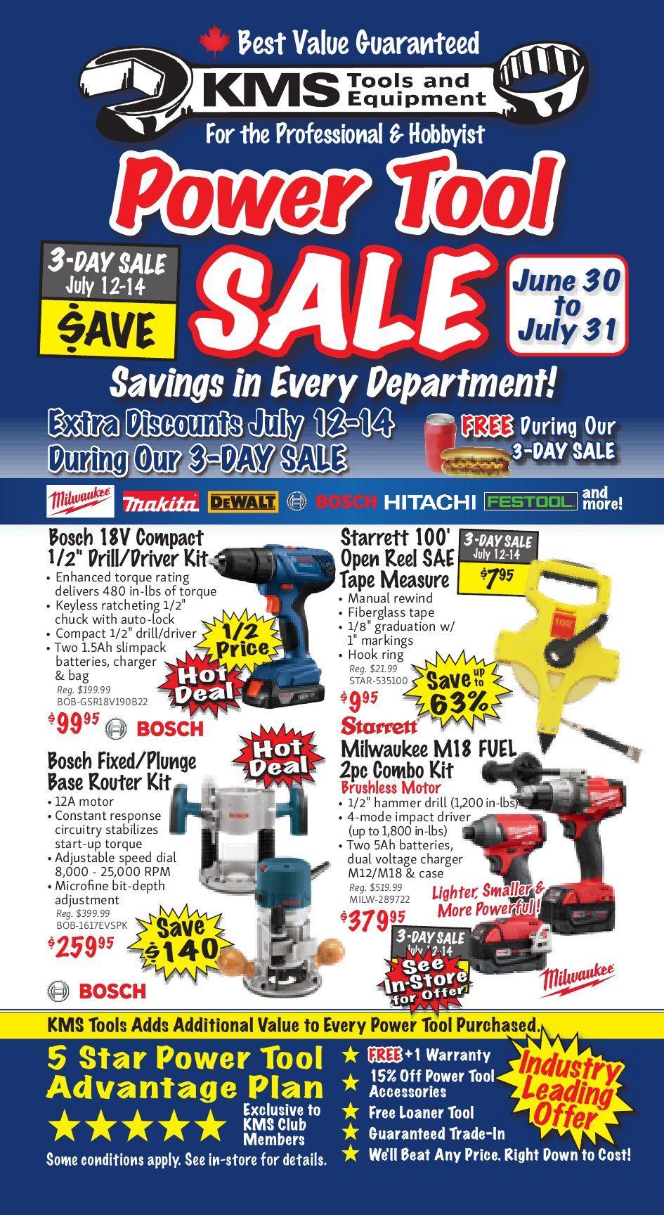 Power Tool Sale - KMS Tools June 30 2018 | YP Shopwise