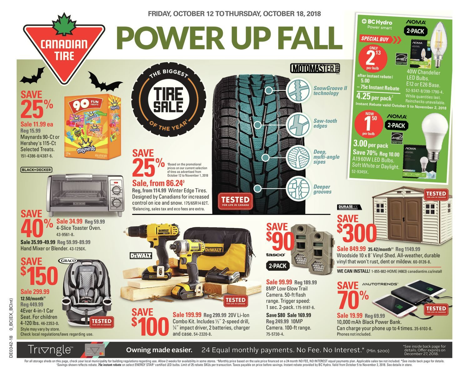 Weekly Power Up Fall Canadian Tire October 11 2018 Yp Shopwise