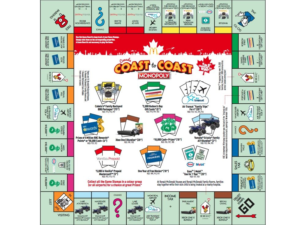 mcdonalds monopoly canada 2018 how to play