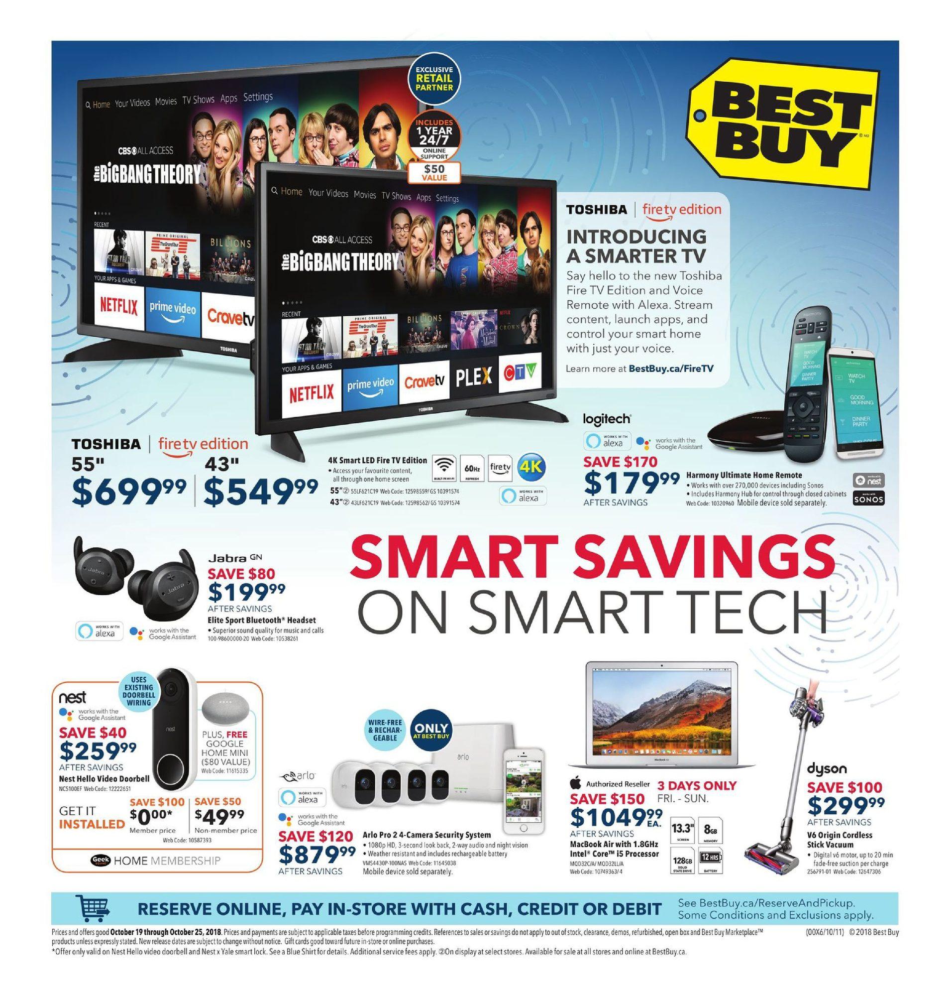 Weekly - Smart Savings On Tech - Best Buy October 19 2018 | YP Shopwise