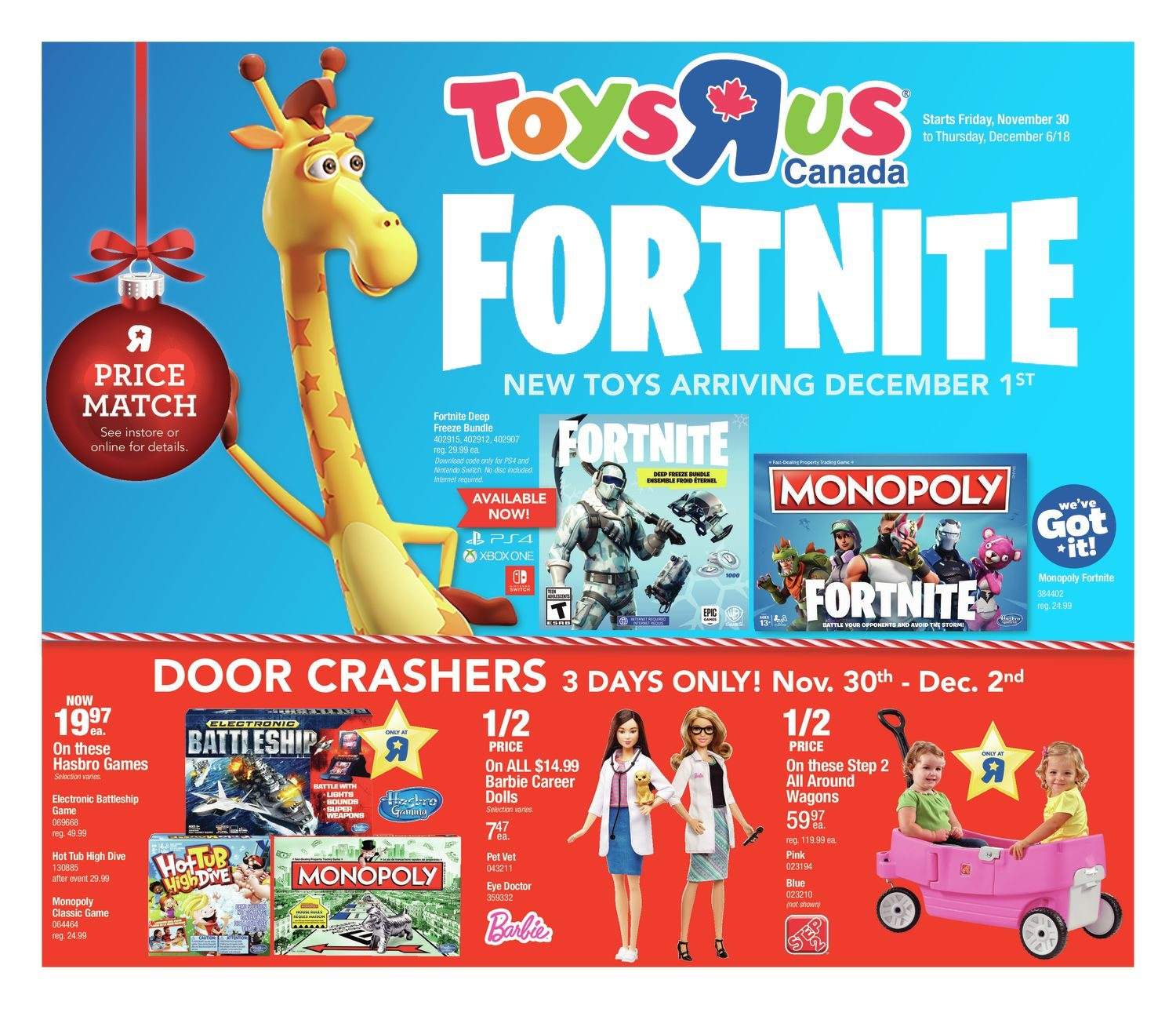 Weekly Fortnite Toys R Us November 29 2018 Yp Shopwise