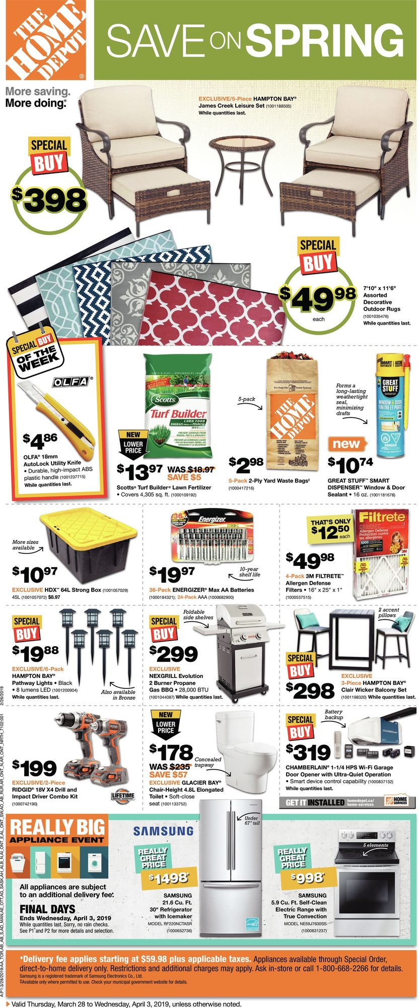 Weekly - Save on Spring - Home Depot March 28 2019 | YP Shopwise
