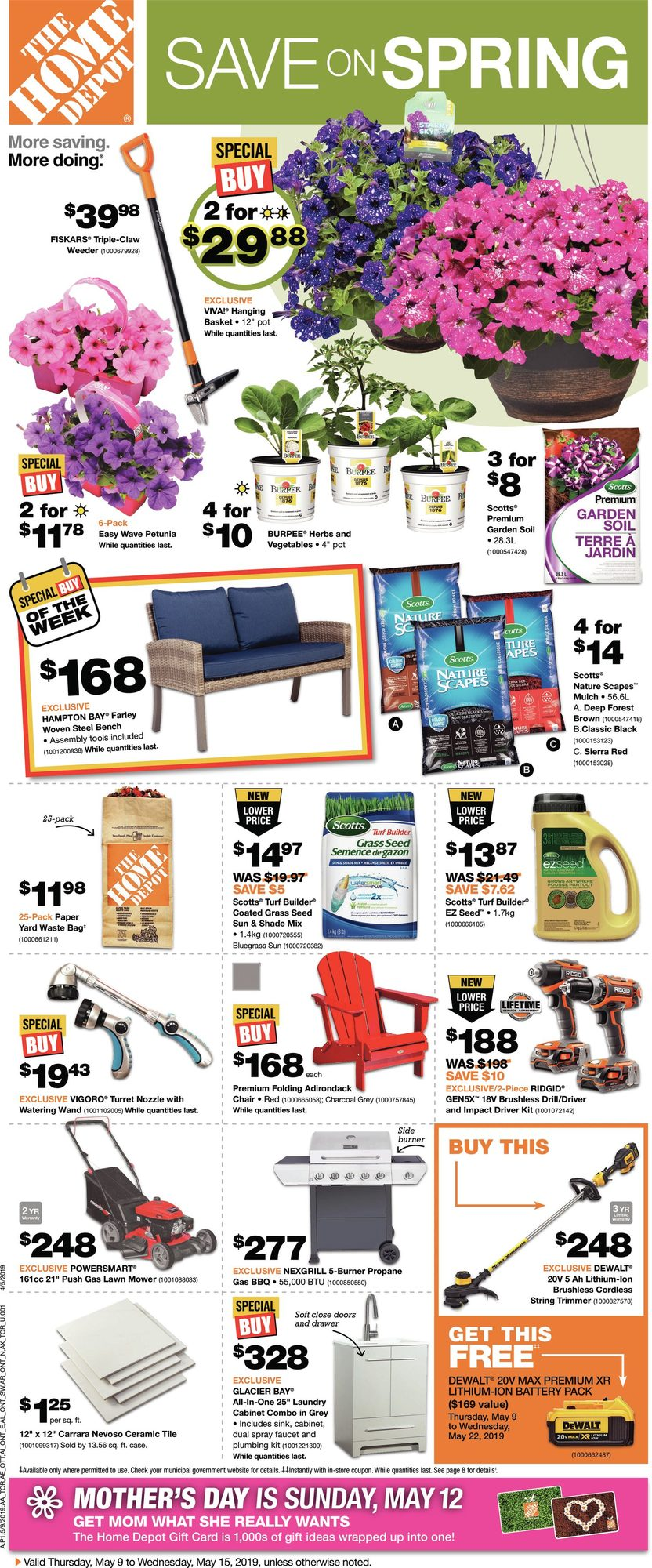 Weekly - Save On Spring - Home Depot May 9 2019 | YP Shopwise