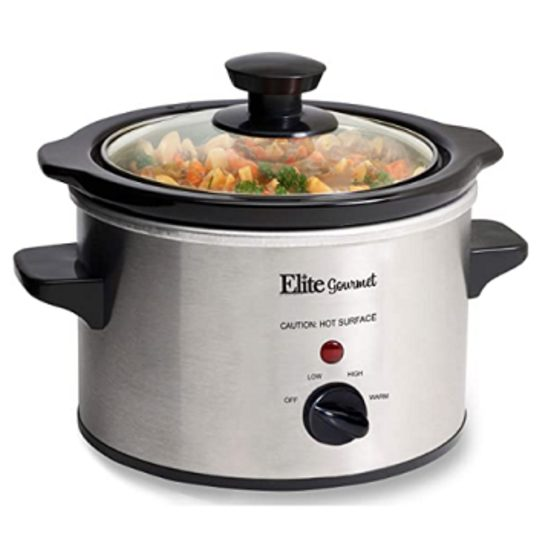 2. Best Small Size: Maxi-Matic MST-250XS Elite Gourmet 1-1/2-Quart Slow Cooker