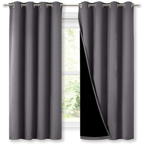 3. Best All-Purpose: Nicetown Blackout Lined Curtains