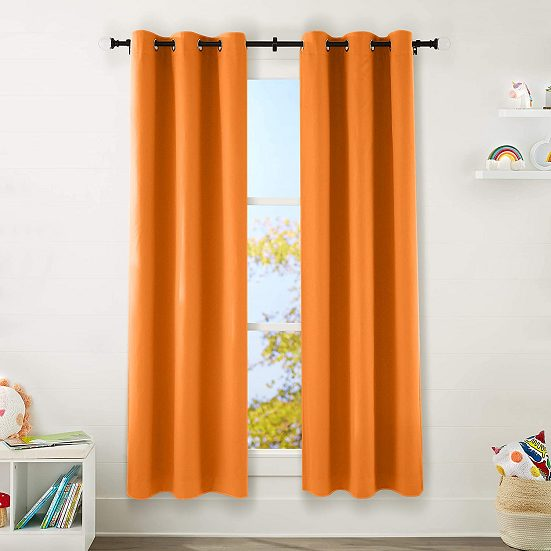 4. Best for Kids: AmazonBasics Kids 100% Blackout Window Curtain Set