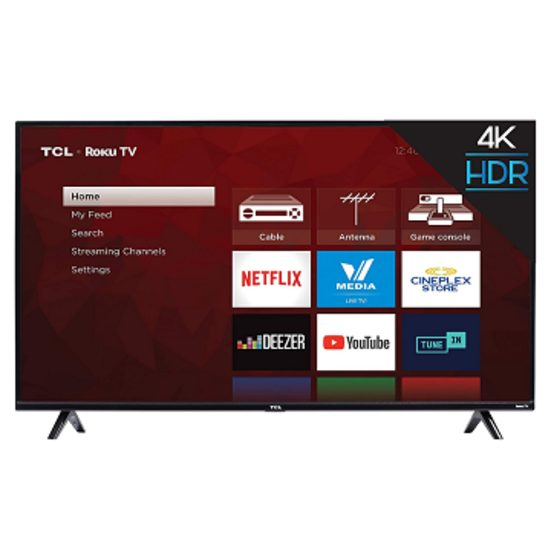 2. Runner Up: TCL 50S425-CA 4K Ultra HD Smart LED TV