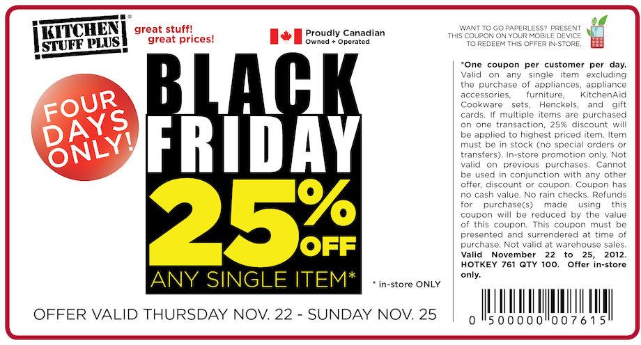 Black Friday Kitchen Stuff Plus Toronto