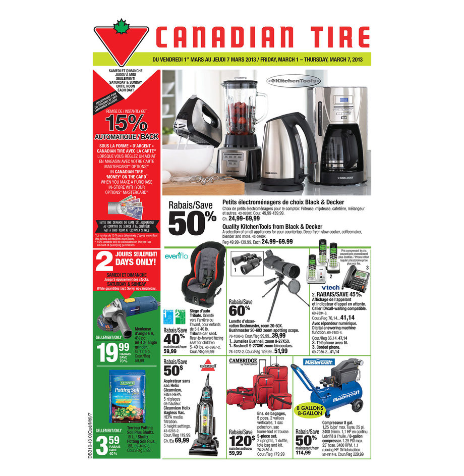 Deal Costco Canada Online Offers Valid From Feb 28 To Mar: Canadian Tire Weekly Flyer