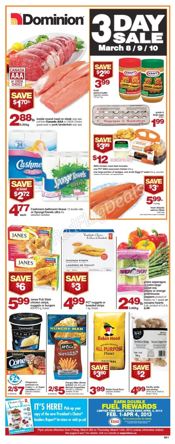 Walmart Call In Number >> Dominion Weekly Flyer - Mar 8 to Mar 14 - RedFlagDeals.com
