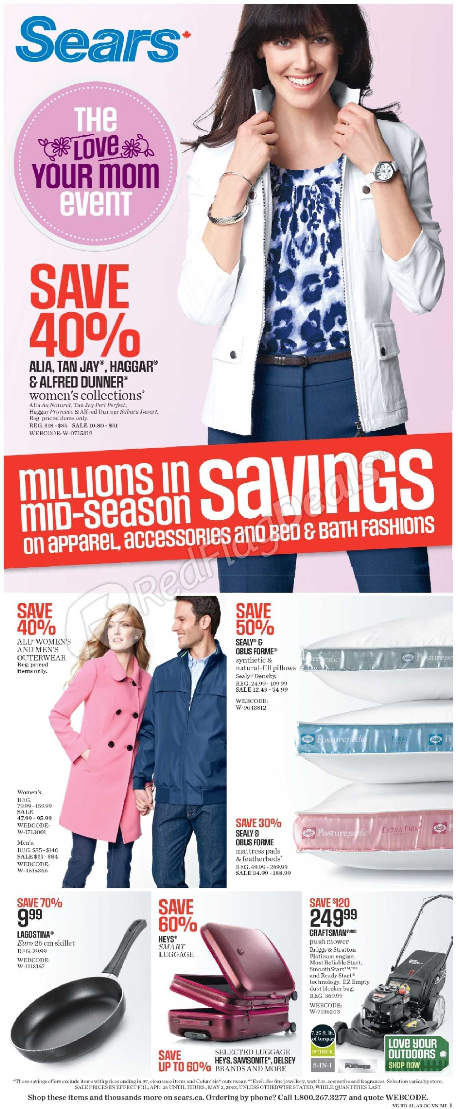 Sears Weekly Flyer Weekly Flyer The Love Your Mom
