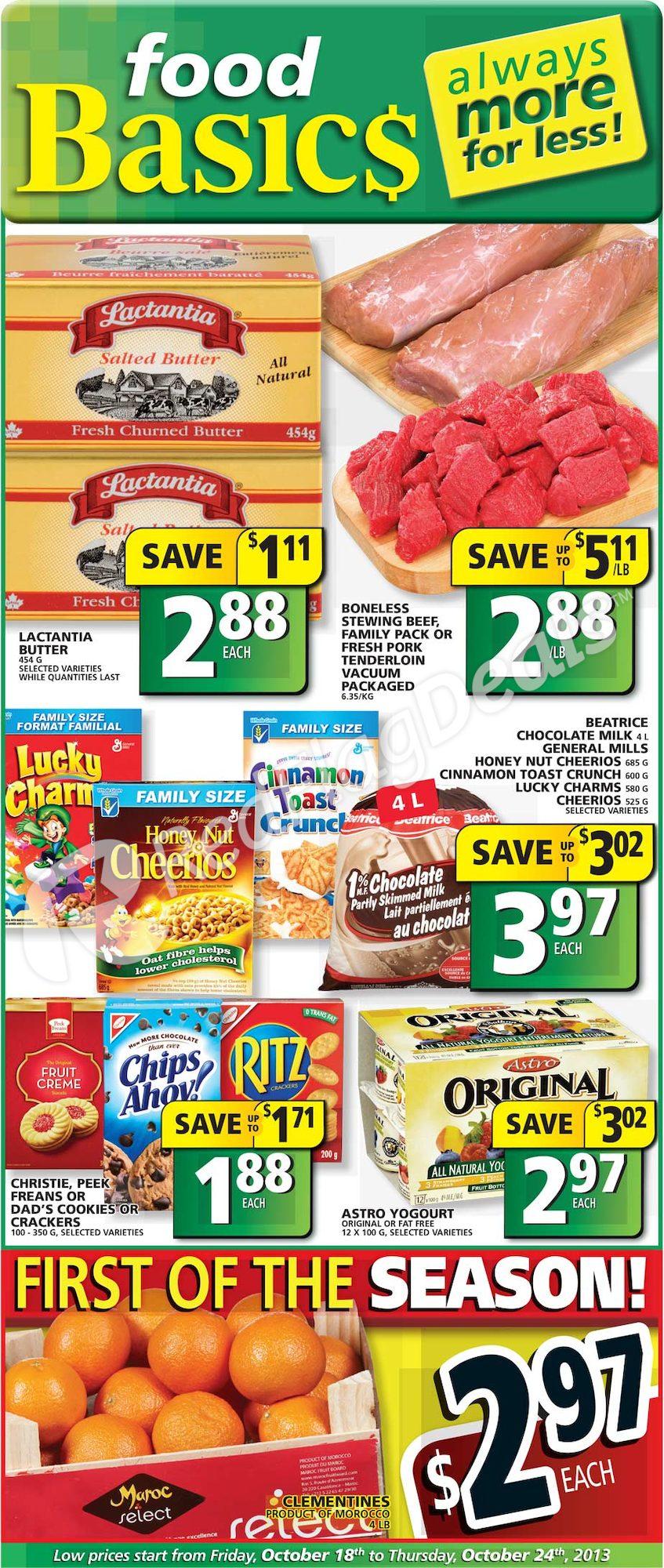 Foodbasics Weekly Flyer Weekly Flyer Oct 18 24