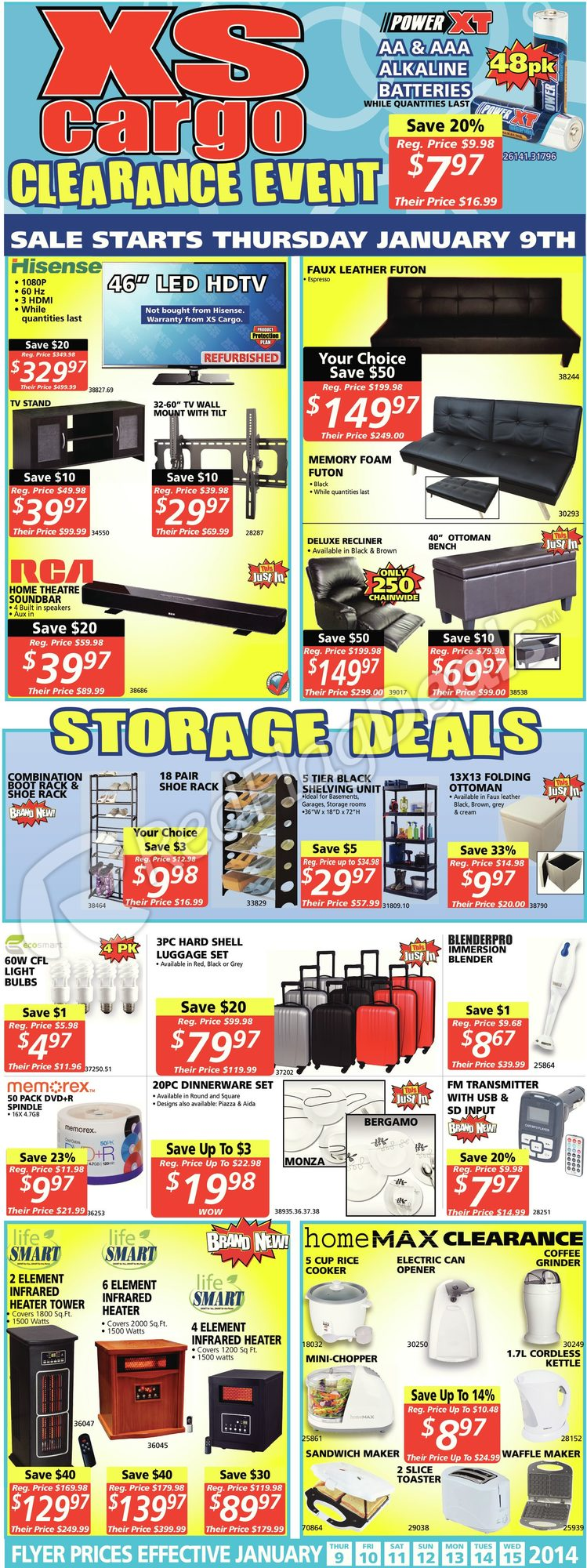 Online XS Cargo Flyer, Opening Hours, Website & Nearby Store Location Locator Start now saving on your money with this latest week xs cargo flyer, sales, promotions, offers, coupons, deals and specials.