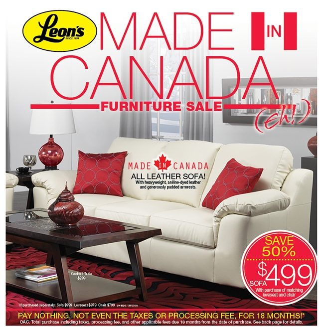 Leon S Weekly Flyer Made In Canada Furniture Sale Feb