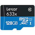 Lexar 128GB Class 10 Memory Card and USB 3.0 Reader