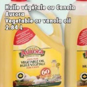 huile vegetale ou canola