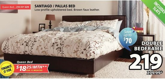 Santiago Pallas Bed Double Bedframe Yp Ca