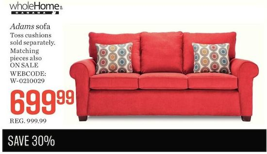 WholeHome MD Canada Adams Collection Sofa. WholeHome MD Canada Adams Collection Sofa   YP ca