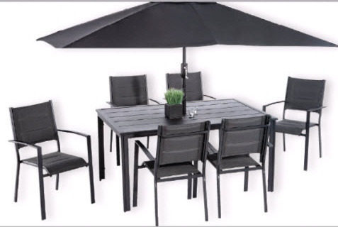 Tera Gear Concorde 8 PC Patio Set