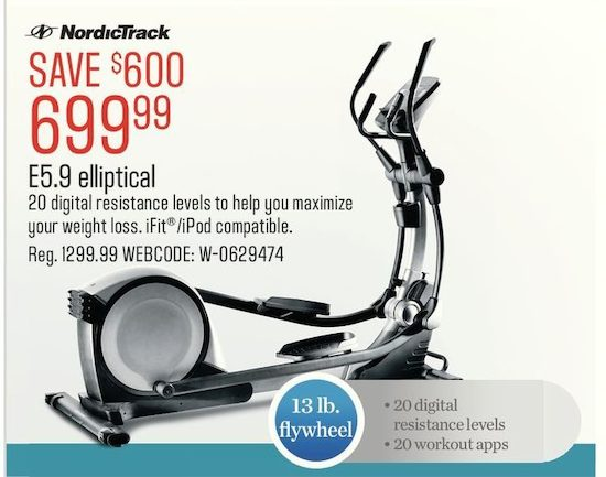 NordicTrack E5 9 Elliptical | YP ca