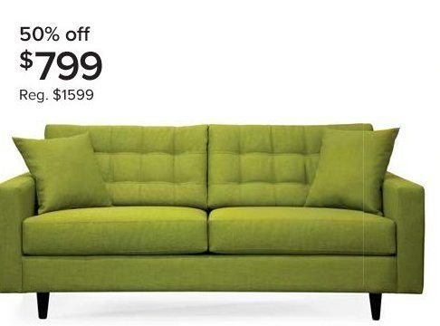 Distinctly Home Gramercy 77 Sofa In Kiwi