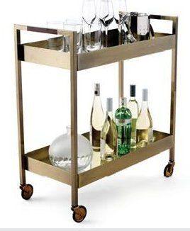 chariot de bar winston glucksteinhome. Black Bedroom Furniture Sets. Home Design Ideas