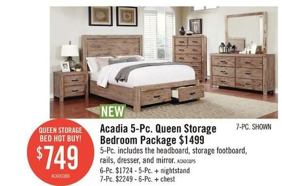 8d3254a4f1d8 Acadia 5-PC Queen Storage Bedroom Package-Queen Storage Bed | YP.ca