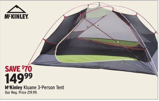 McKinley Kluane 3-Person Tent & McKinley Kluane 3-Person Tent | YP.ca