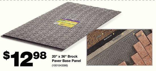 20 X 36 Brock Paver Base Panel