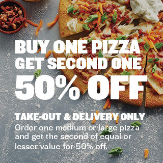 BOGO 50% Off Pizza!