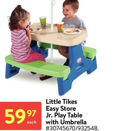 Little Tikes Easy Store Jr.Play Table With Umbrella