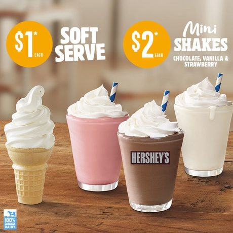 Get a Vanilla Soft-Serve Cone for $1 + More!