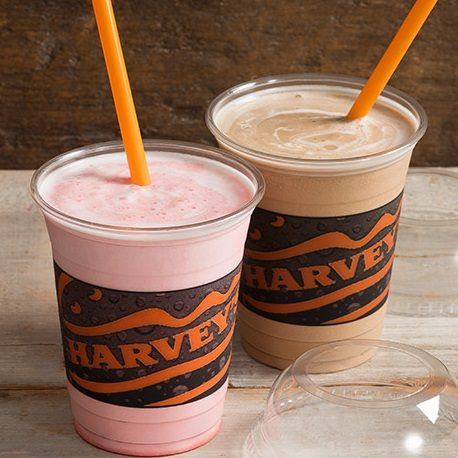 Get a FREE Regular Milkshake at Harvey's!